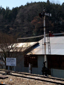 岩村駅腕木式信号機