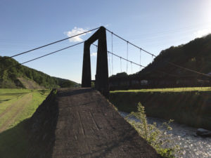 瑞浪市の吊り橋