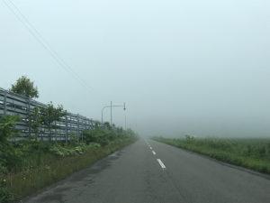 稚内市の霧